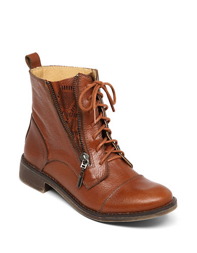 LUCKY BRAND Nahdia Leather Ankle Boots