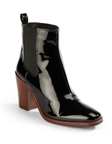 VINCE CAMUTO SIGNATUREPatent Leather Gore Ankle Boots