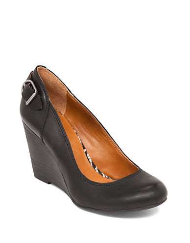 LUCKY BRAND Gatley Leather Wedge Heels