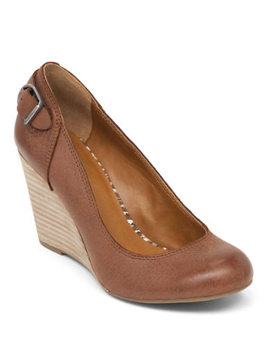 LUCKY BRANDGatley Leather Wedge Heels