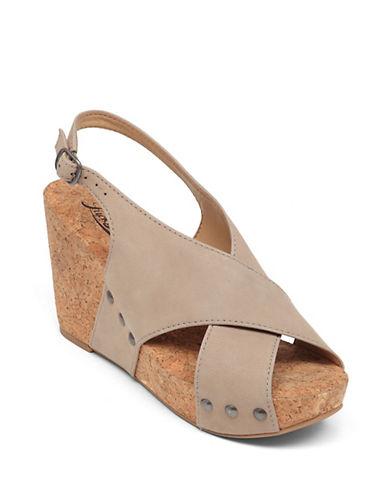 LUCKY BRANDMinari Leather Open-Toe Wedge Sandals