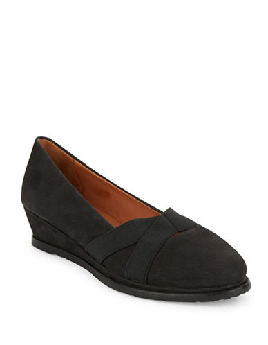 Buy Newman Nubuck Leather Wedges by Gentle Souls online