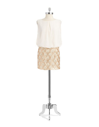 ARK & COSequin Embellished Blouson Dress