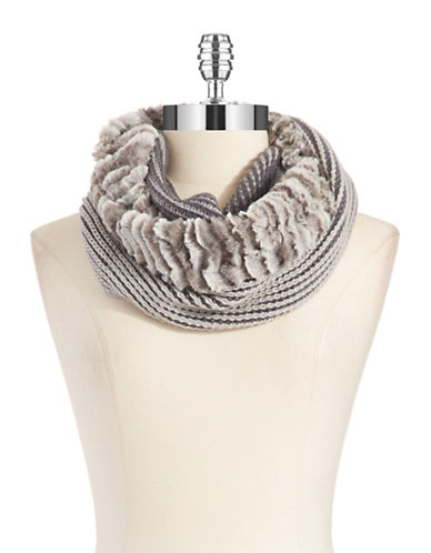 COLLECTION 18Two Tone Faux Fur Scarf