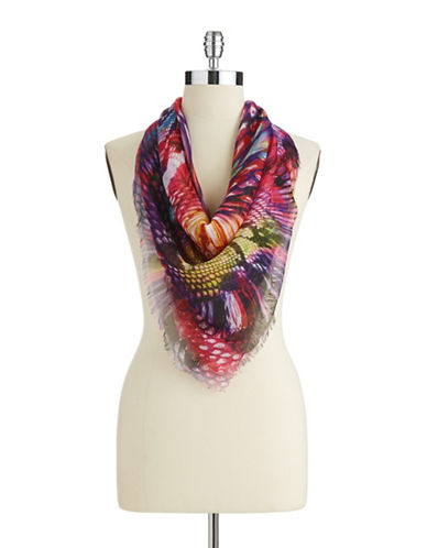 COLLECTION 18 Abstract Animal Print Scarf