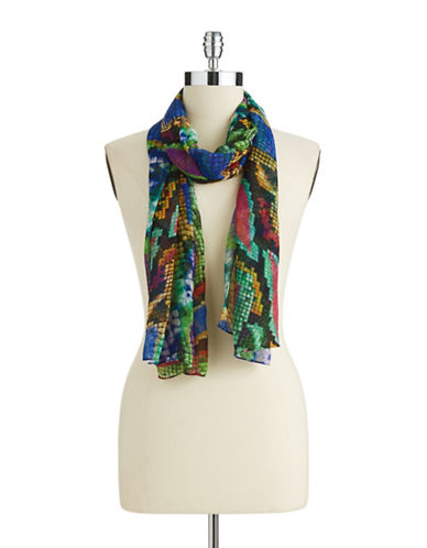 COLLECTION 18 Bright Animal Print Scarf