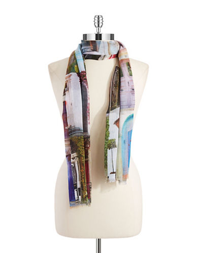 COLLECTION 18Door Patterned Wrap Scarf