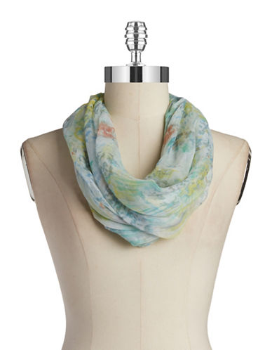 COLLECTION 18 Whispy Floral Cowl Scarf