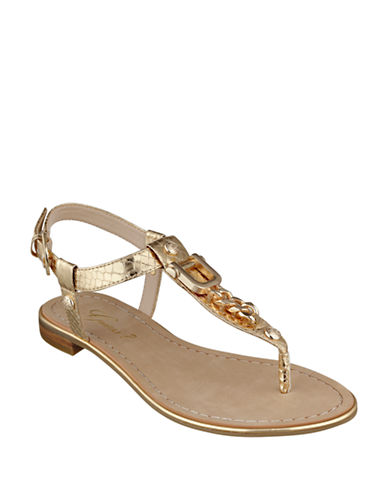 GUESS Rehan Faux Leather Sandals