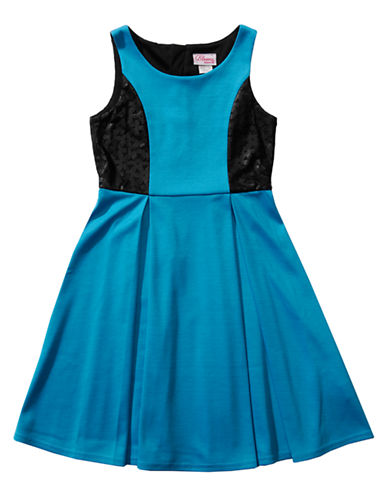 BLOOME Girls 7-16 Color-Blocked Sleeveless Dress
