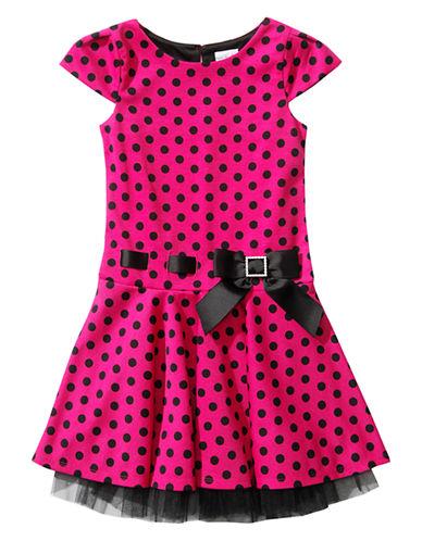 SWEETHEART ROSEGirls 2-6x Polka Dot Dress with Bow Decoration