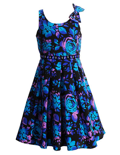 BLOOMEGirls 7-16 Multi-Color Floral Print Dress