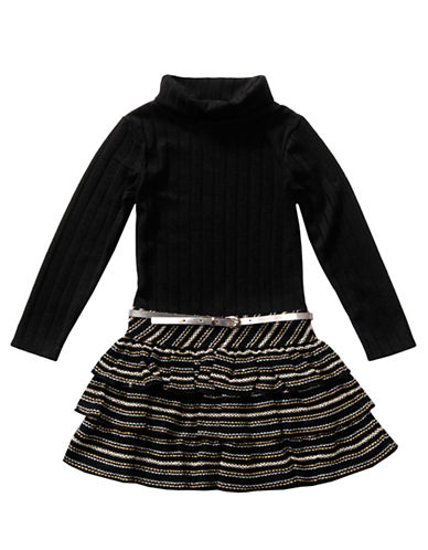 SWEETHEART ROSEGirls 2-6x Ribbed Knit Dress with Tiered Skirt