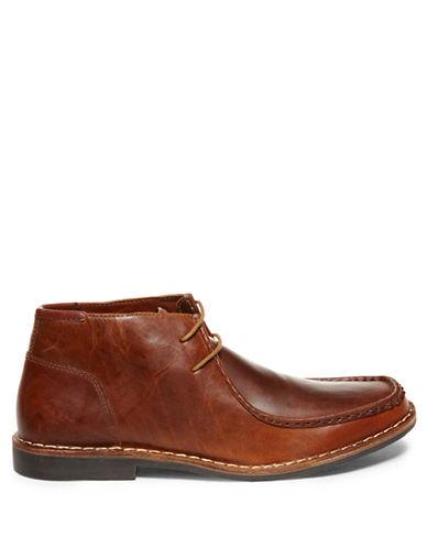 STEVE MADDENHandler Leather Moc-Toe Chukka Boots