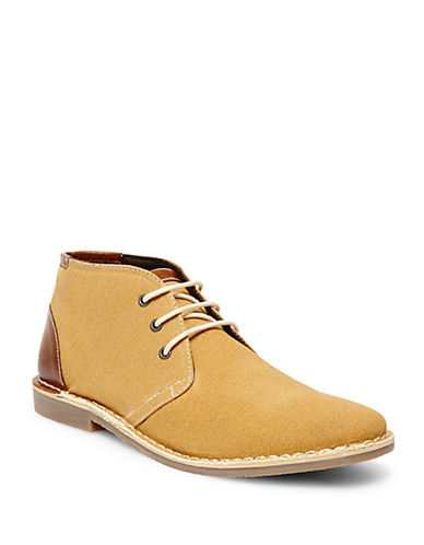 STEVE MADDEN Halloway Leather-Trimmed Chukka Boots