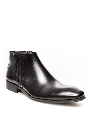 STEVE MADDEN Felcore Leather Ankle Boots