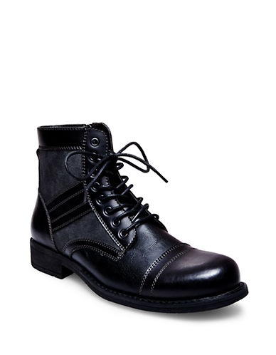STEVE MADDEN Praetor Leather Boots