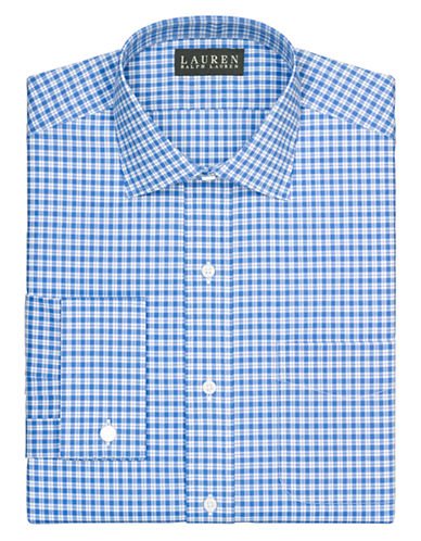 LAUREN RALPH LAURENSlim French Cuff Plaid Warren Dress Shirt