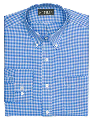 LAUREN RALPH LAUREN Slim Mini Checked Dress Shirt