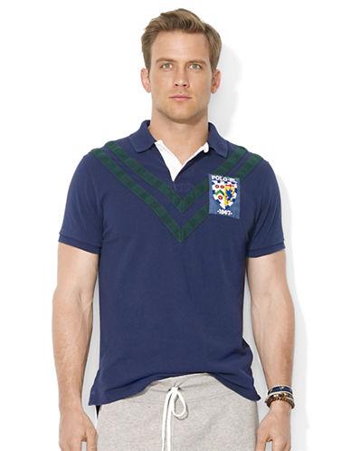 POLO RALPH LAURENCustom-Fit Chevron-Stripe Polo Shirt
