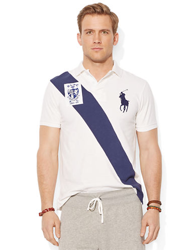 POLO RALPH LAURENCustom-Fit Banner-Stripe Polo Shirt