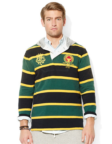 POLO RALPH LAUREN Striped Heritage Rugby Hoodie