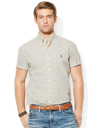 POLO RALPH LAURENShort-Sleeved Checked Poplin Shirt