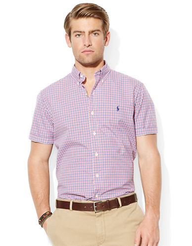 POLO RALPH LAUREN Short-Sleeved Checked Poplin Shirt