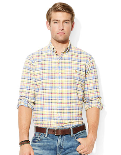 POLO RALPH LAUREN Classic-Fit Plaid Oxford Shirt