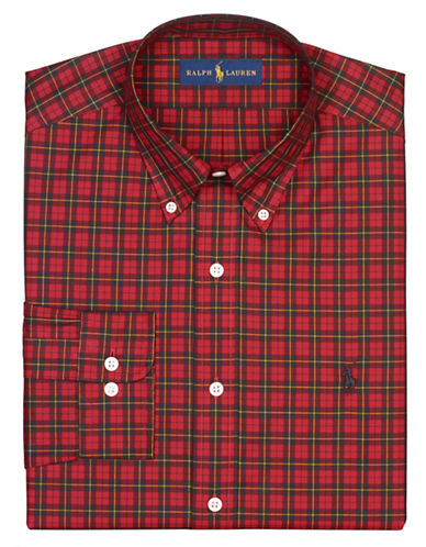 POLO RALPH LAURENRegular Fit Plaid Dress Shirt