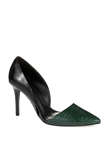 AERIN Faden Embossed Pumps