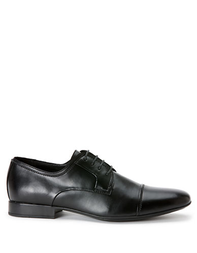 CALVIN KLEINGabriel Leather Cap Toe Oxfords