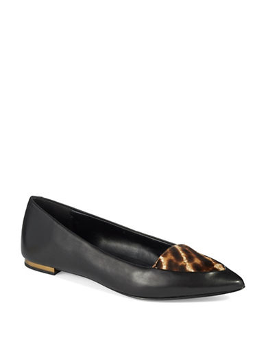 Buy Imogen Calf Hair Pointed Toe Flats by Aerin online
