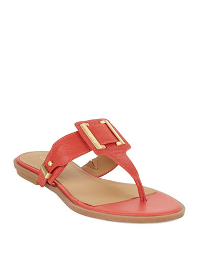 CALVIN KLEIN Ula Thong Leather Sandals