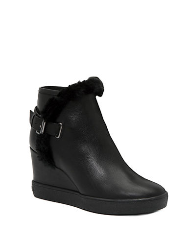 AQUATALIACameron Leather and Faux Fur-Lined Ankle Boots