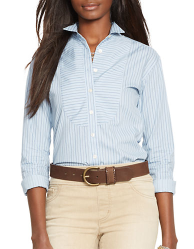 LAUREN RALPH LAUREN Striped Tuxedo Shirt