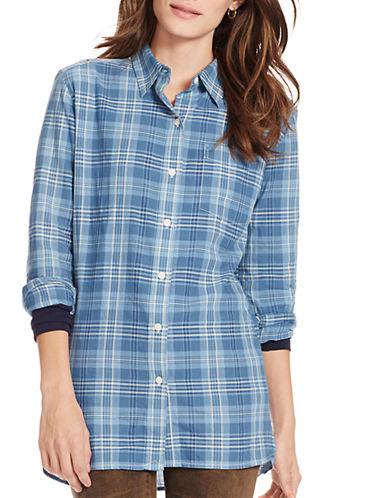 LAUREN RALPH LAURENPetite Plaid Cotton Shirt