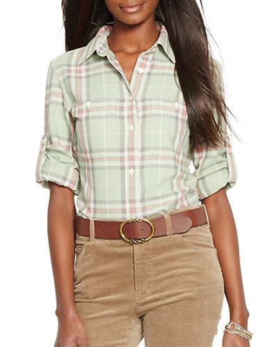 LAUREN RALPH LAURENPetite Plaid Button-Front Shirt
