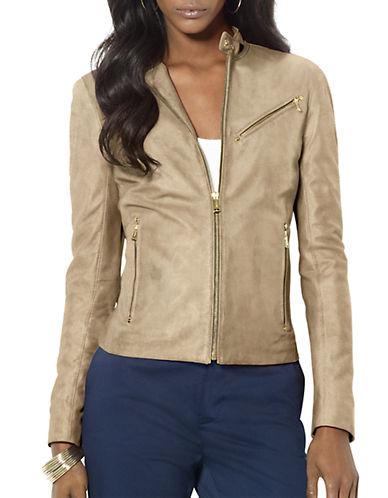 Lauren Ralph Lauren Petite Suede Moto Jacket