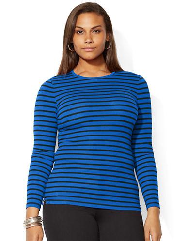 LAUREN RALPH LAURENPlus Stripe Stretch Cotton Shirt
