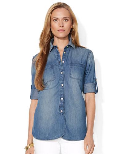 LAUREN RALPH LAURENPolka Dot Cotton Shirt