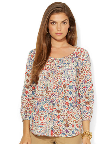 LAUREN RALPH LAURENPatchwork Floral Cotton Shirt