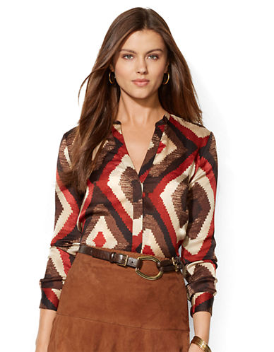 LAUREN RALPH LAUREN Patterned Silk Blouse