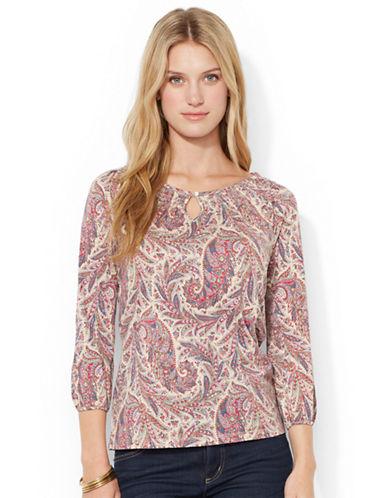 LAUREN RALPH LAURENPetite Paisley Cotton Shirt