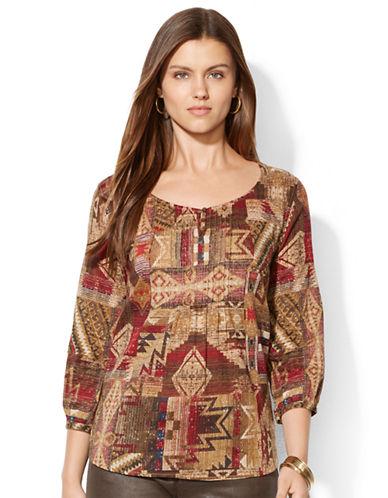 LAUREN RALPH LAURENPatchwork Peasant Shirt