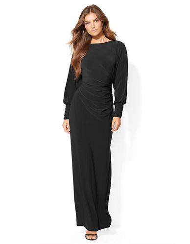 Shop Lauren Ralph Lauren online and buy Lauren Ralph Lauren Split Sleeved Jersey Gown dress online