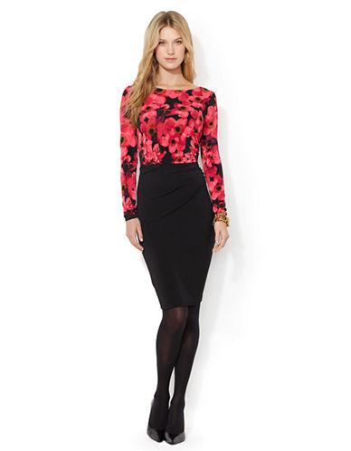 Shop Lauren Ralph Lauren online and buy Lauren Ralph Lauren Ruched Floral Dress dress online