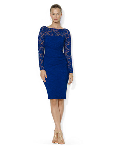 LAUREN RALPH LAUREN Petite Sequined Lace Dress