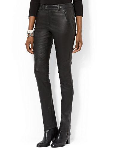 LAUREN RALPH LAURENStretch Leather Pant