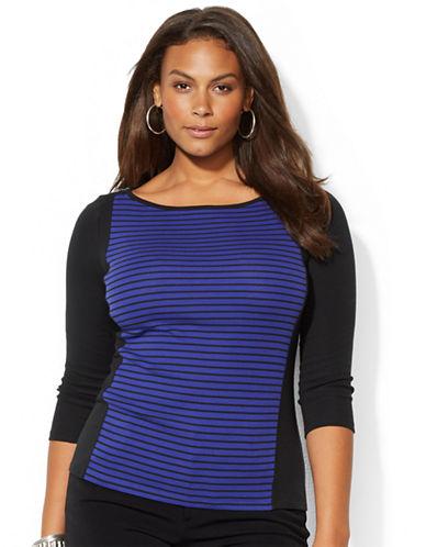 LAUREN RALPH LAURENPlus Stripe Cotton Shirt